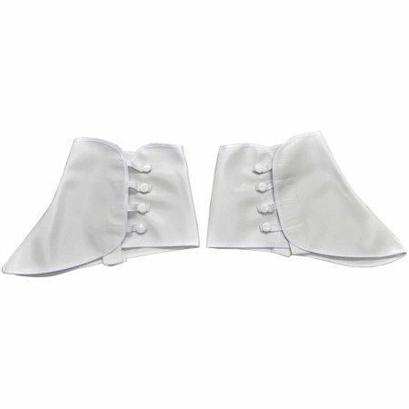Short Vinyl White Spats Adult Halloween Accessory - Vinyl Halloween