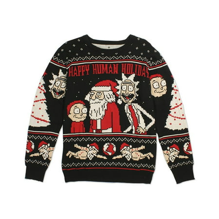 Rick and Morty Happy Human Holiday Ugly Christmas Sweater](Ugly Sweater Theme)