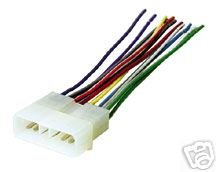 stereo wire harness jeep xj cherokee 93 94 95 96 (car radio wiring installation parts)professional wiring harness (eia color coded to match the Gauges for Jeep