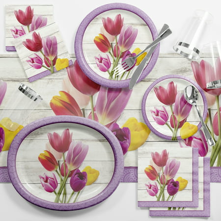 Beautiful Blossoms Floral Deluxe Party Supplies Kit