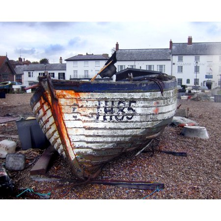 - Framed Art For Your Wall Fishing Aldeburgh Coast Old Fishing Boat Suffolk 10x13 Frame