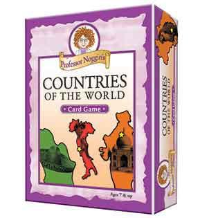 Educational Trivia Card Game - Professor Noggin's Countries of the World - Outset Media (Professor Noggin)