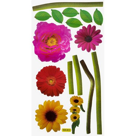 Loving Flowers - Wall Decals Stickers Appliques Home