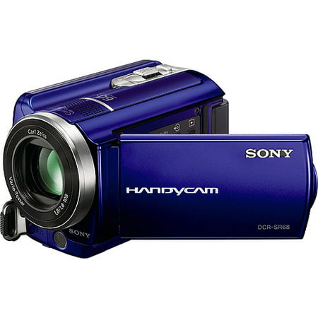 Sony Handycam SR68 Blue 80GB Hard Disk Drive Camcorder w/ 60x Optical Zoom