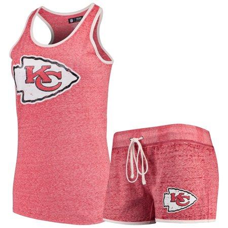 Kansas City Chiefs Concepts Sport Women's Squad Tank Top & Shorts Pajama Set - Heathered -