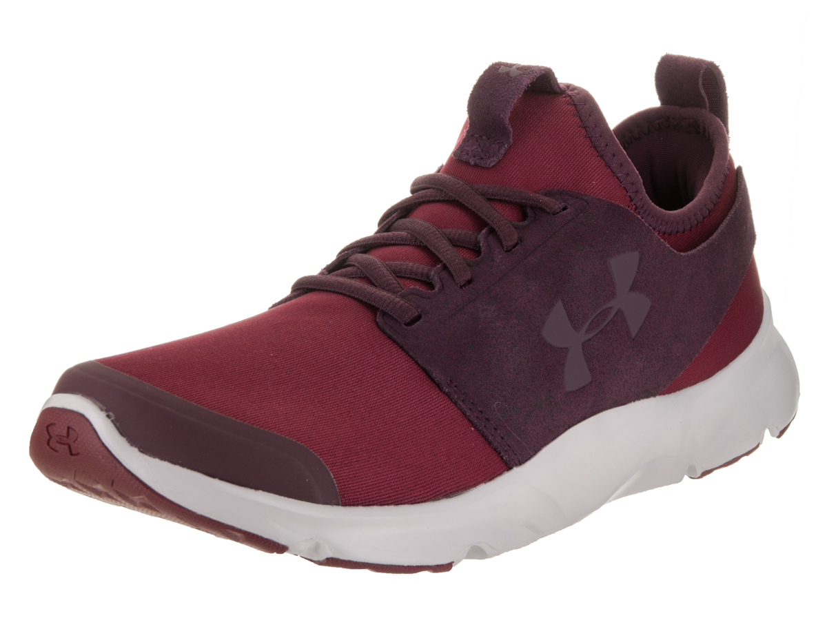 Mens Under Armour Drift Rn Mineral 1288060-625 Red Lace Up Running Shoe Trainers