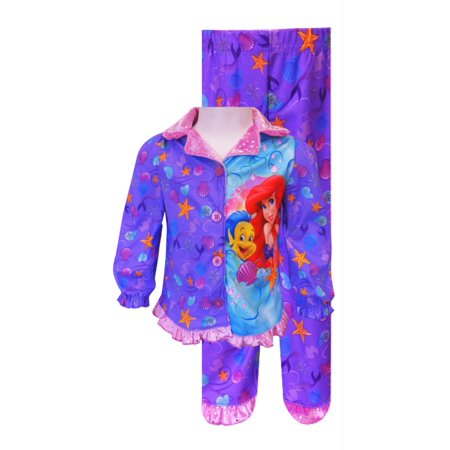 Disney Princess Ariel Button Front Toddler Pajama](Princess Jasmine Pajamas)