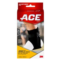 14eed38af0 Product Image ACE Brand Ankle Brace with Side Stabilizers, Adjustable,  Black, 1/Pack