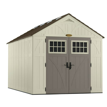 Suncast 8' x 13' Tremont Resin Storage Shed, Vanilla, BMS8130