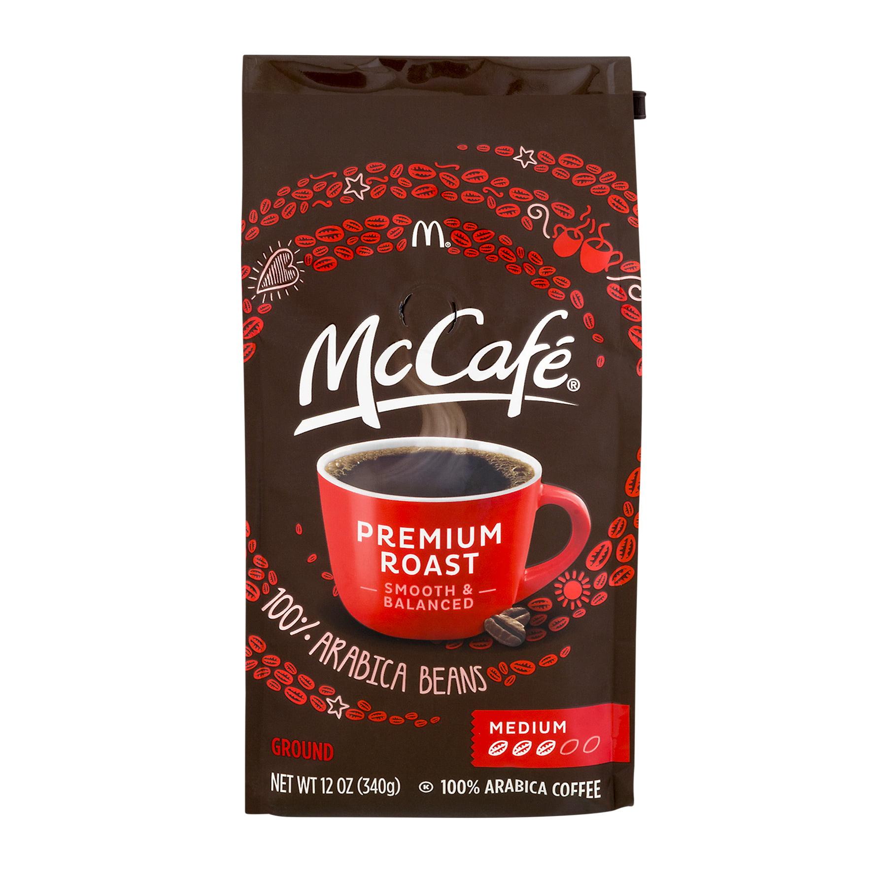 McCafe Premium Roast Ground Coffee Smooth & Balanced Medium, 12.0 OZ