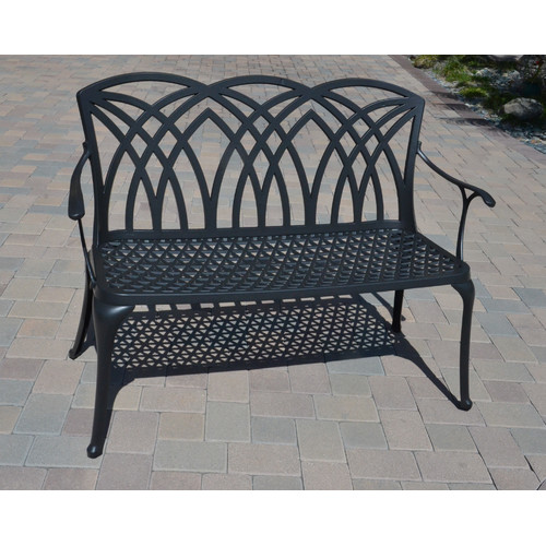 DHC Furniture Wessex Cast Aluminum Garden Bench