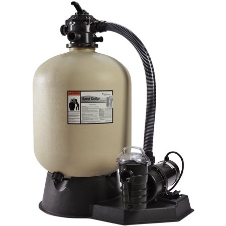 Pentair PNSD0035DE1160 Sand Dollar Aboveground Filter System with Blow-Molded Tank, 1 HP