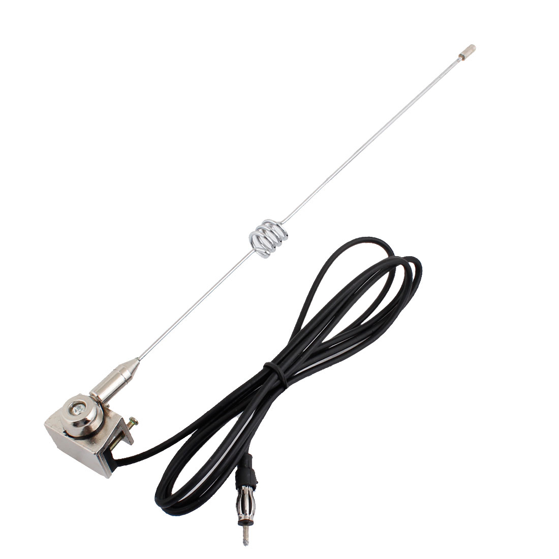 Silver Tone Screw Mount Single Pole Car Signal Radio FM AM