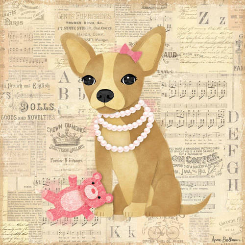 Oopsy Daisy - Canvas Wall Art Chihuahua Girl 10x10 By Anne Bollman