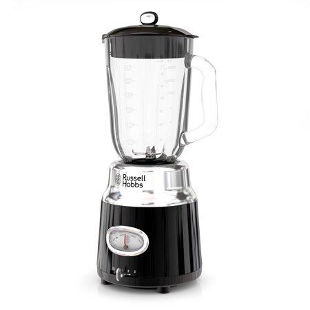 Russell Hobbs Retro Style 6-Cup Blender, Glass Jar, Black, BL3100BKR