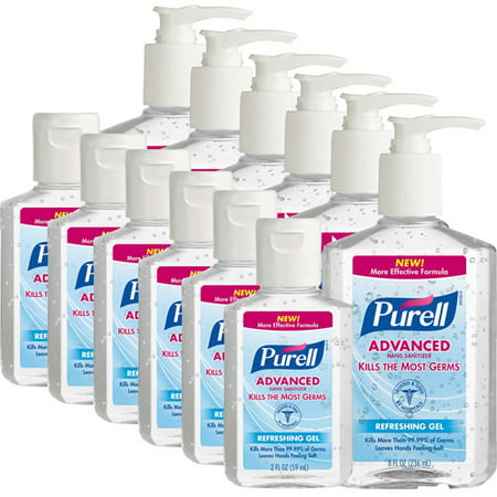 PURELL Advanced Refreshing Gel Hand Sanitizer, Assorted Sizes, Pack of 12