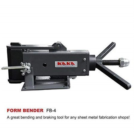 kaka fb-4 4-inch hand operated steel bending brake, high flexibility, easy operation sheet metal forming (Sheet Metal Bending Brake With Improved Hinge)