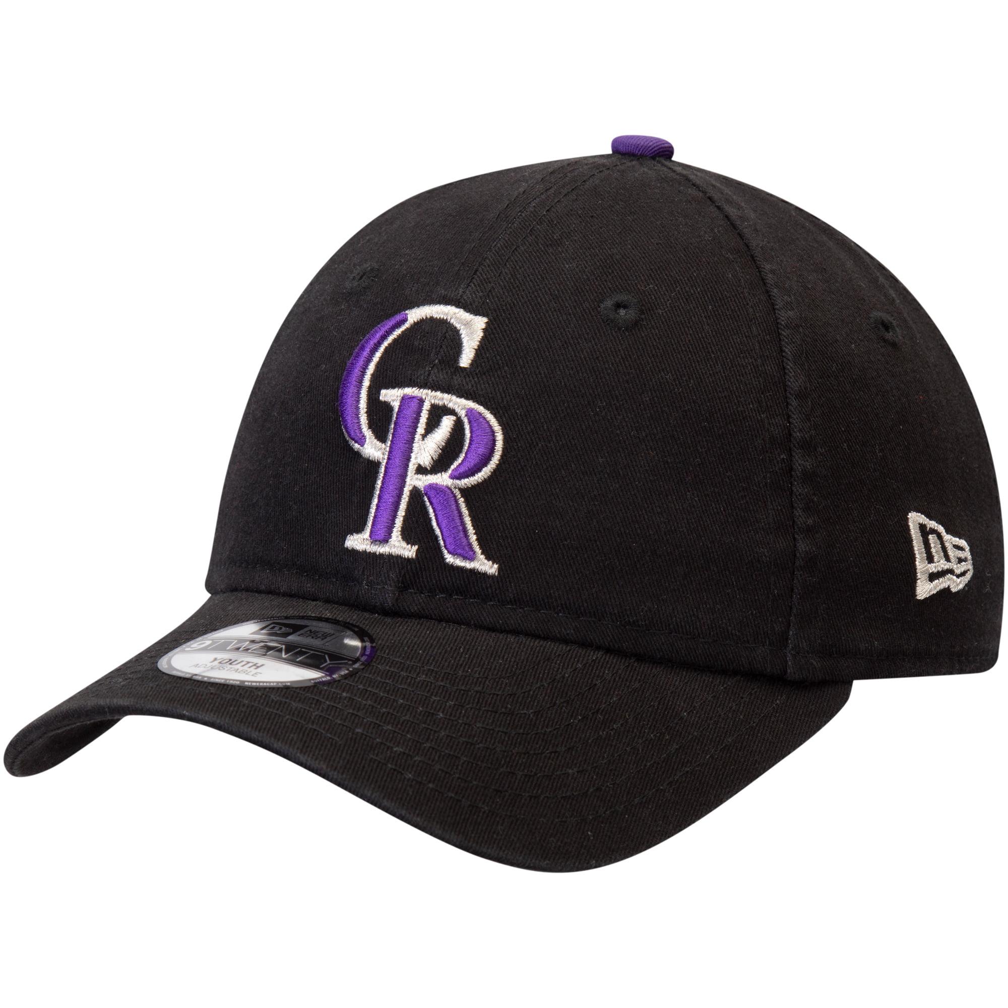 Colorado Rockies New Era Youth Core Classic Replica 9TWENTY Adjustable Hat - Black - OSFA