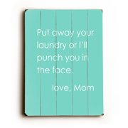 Love Mom - 14x20 Planked Wood Wall Decor by Cheryl Overton