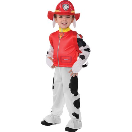 PAW Patrol Marshall Costume for Toddler Boys, Size 3-4T, With Jumpsuit and More - Marshalls Halloween Costumes