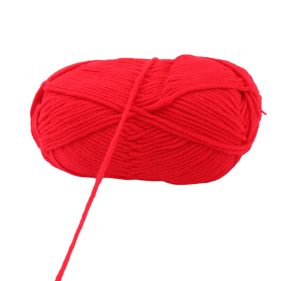 Cotton Blends Sweater Hat Gloves Crochet Knitting Yarn String Red 100g 2pcs - image 1 of 4