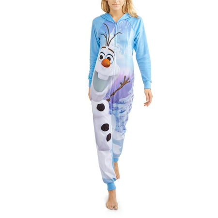 068588f43b Olaf - Disney s Women s and Women s Plus License Sleepwear Adult One Piece  Union Suit Pajama (XS-3X) - Walmart.com