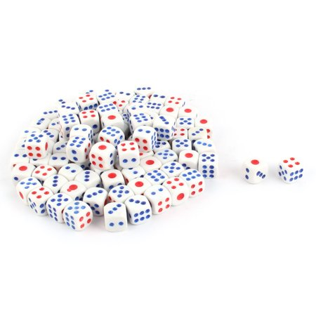 KTV Plastic Square Shaped Casino Lucky Games Shaking Dice Tricolor 100pcs - image 2 de 2