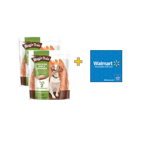 Bundle and Save! Purina Waggin Train Chicken Jerky Tenders Dog Treats (2 Units) with $10 Gift Card
