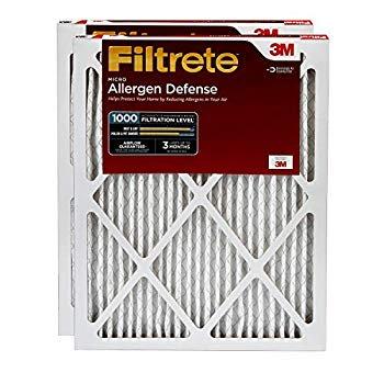 Filtrete 20x25x1, AC Furnace Air Filter, MPR 1000, Micro Allergen Defense, 2-Pack (Air Filter Filtrete 20x25x1)