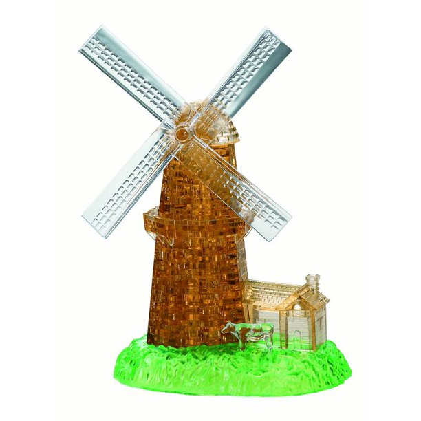 Deluxe 3D Crystal Puzzle - Windmill