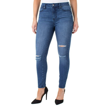 Juniors' High Rise Compression Slimming Jeans