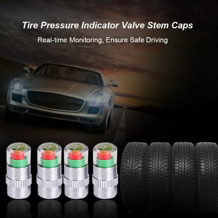 4Pcs/Set High Precision Automobile Car Tire Pressure Monitor Tire Valve Stem Caps Sensor Indicator Tire Pressure Alert Warning Cap 2.0 Bar/2.2 Bar/2.4 Bar - image 2 of 7