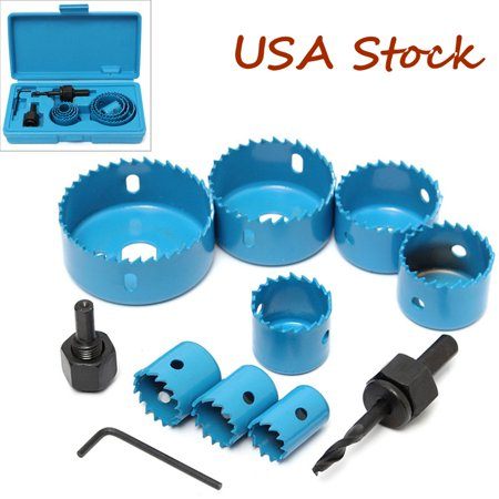 11PCS Hole Saw Cutting Set 19-64MM Wood Boards Plastic drillholesawsteelcuttingtool And Sofal Mefal