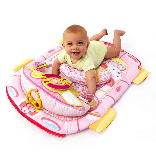 Bright Starts - Tummy Cruiser Prop & Play Mat, Pink