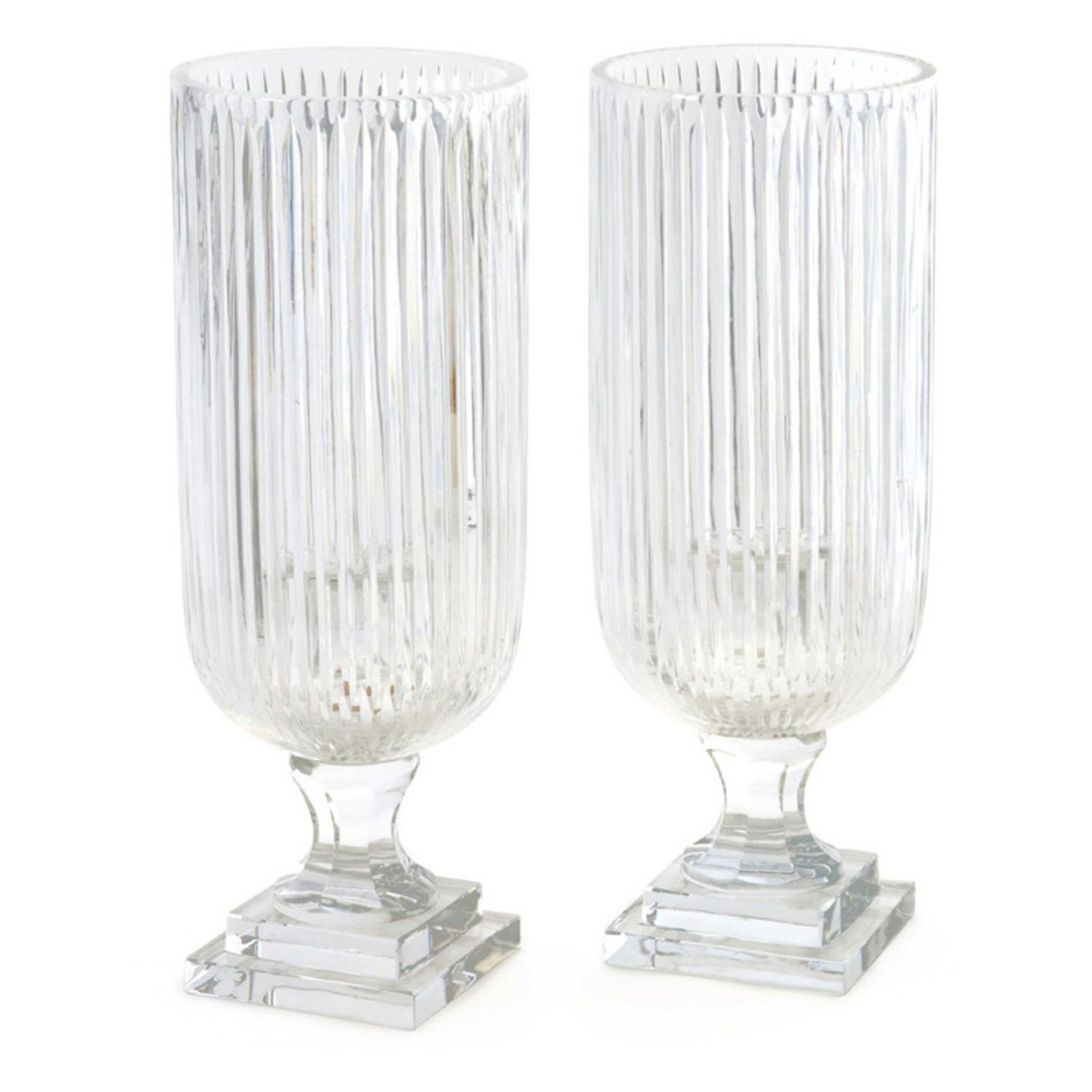 Hip Vintage Linear Hurricane Candle Holder - Set of 2