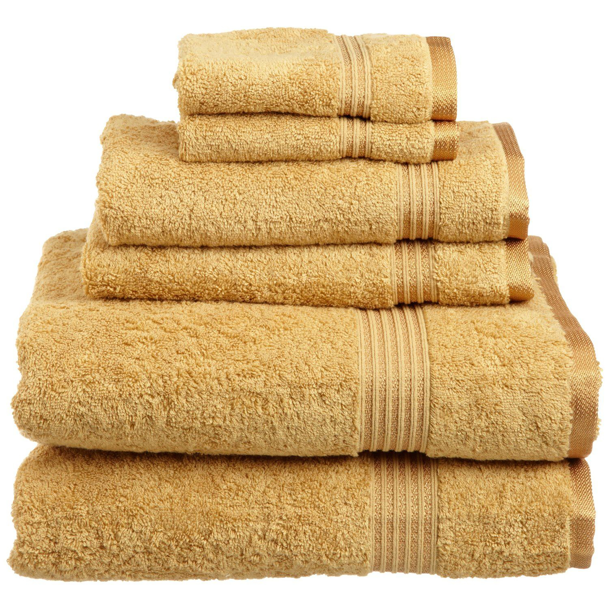 Superior 600GSM Long-Staple Combed Cotton 6-Piece Towel Set
