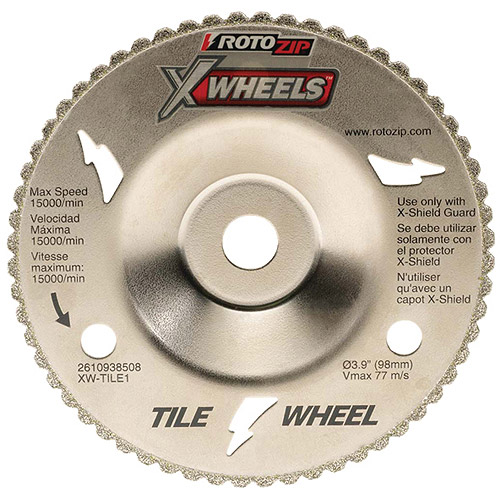 Rotozip Tool Co. XW-TILE1 Diamond Grit Tile X-Wheel By RotoZip-TILE XWHEEL