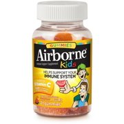 2 Pack - Airborne Kids Assorted Fruit Flavored Gummies, 21 count - 667mg of Vitamin C and Minerals & Herbs Immune Suppor