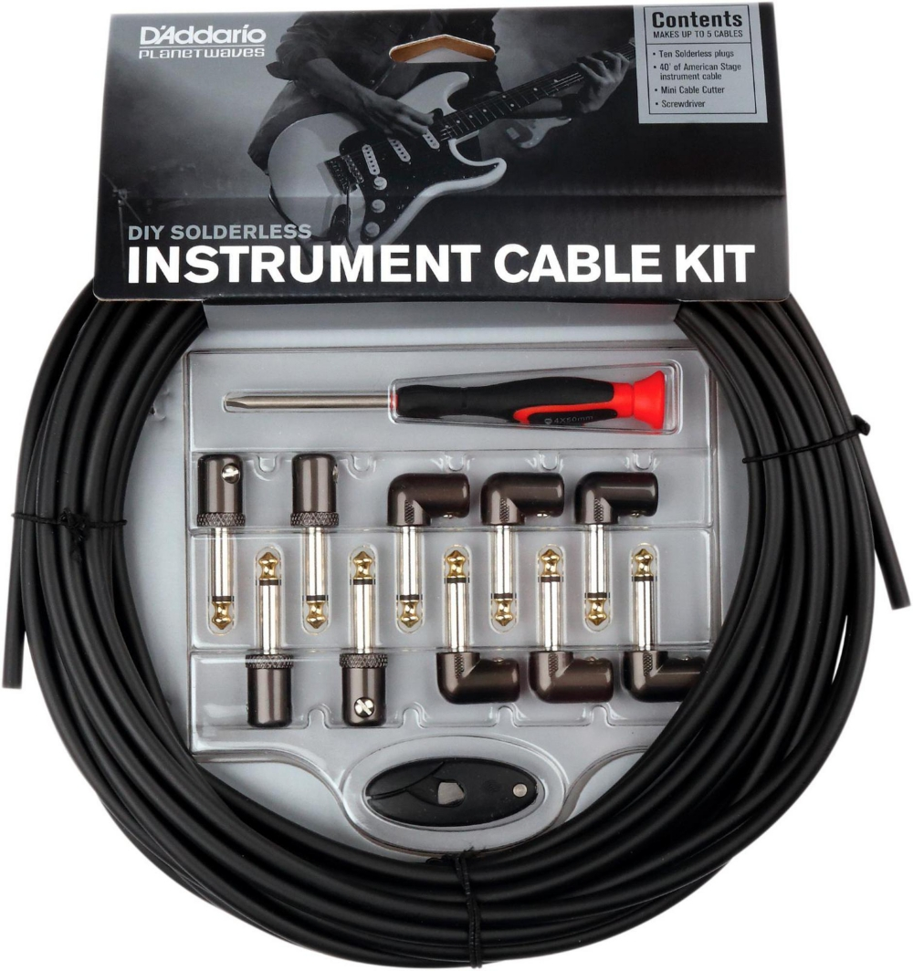 D'Addario Planet Waves Cable Station Custom Instrument Cable Kit by D'Addario Planet Waves