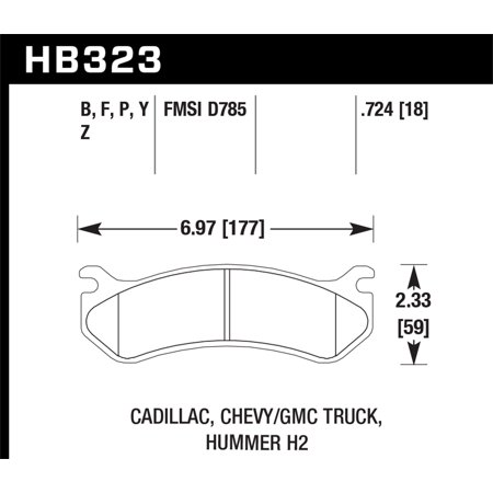 - Hawk 06 Chevy Avalanche 2500 / GMC Truck / Hummer Super Duty Street Rear Brake Pads