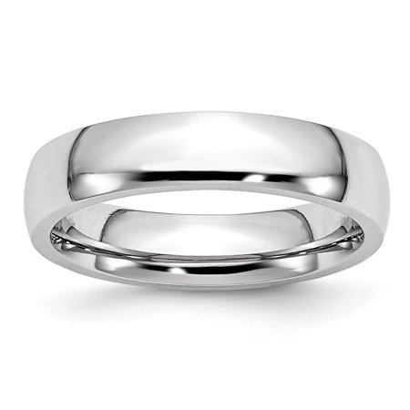 Cobalt 5mm Wedding Ring Band Size 12.50 Classic Domed Fashion Jewelry Gifts For Women For Her - image 10 de 10