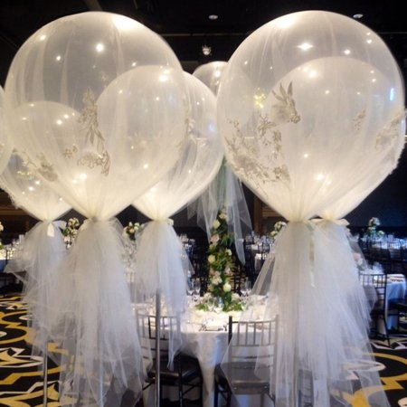 Micelec 36 Inch Large Transparent Latex Balloons Party Decor Birthday Wedding Festival for $<!---->