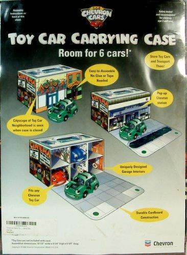 Chevron Cars Toy Carrying Case, Garage, Holds 6 Vehicles, Cardboard Car Carrier