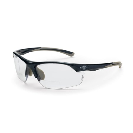 166420 AR3 Safety Glasses with Gray Frame and Clear Lens with 2.0 Diopter, Meets ANSI Z87.1 Standards By Crossfire Eyewear Ansi Z871 Safety Standard