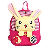 Your Gallery Baby`s Cute 3D Rabbit Little Backpack Plush Bag for Toddlers Kids, rose