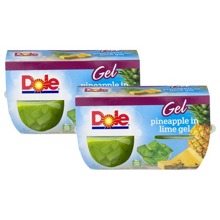 (8 Pack) Dole Fruit Bowls, Pineapple in Lime Gel, 4.3 Ounce (4 (Dole Fruit Gel)