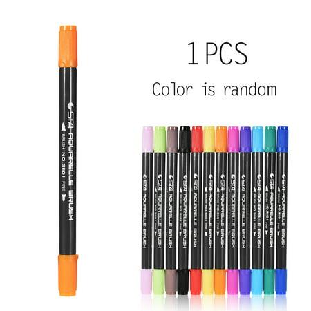 1Pc Color/ Set Marker Marking Pen Twin Tip Brush Sketch Pens Water Based Ink for Graphic Manga Drawing Designing](Brush Pen Set)