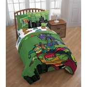 Teenage Mutant Ninja Turtles Full Comforter, Sheet Set, & BONUS SHAM (6 Piece Bed In A Bag)