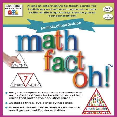 Learning Advantage? Math-Fact-Oh!? Multiplication & Division Game Learning Advantage Games