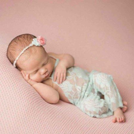 2019 Hot Sale Soft Infant Baby Girl Lace Romper Long Pant Bodysuit Newborn Photo Props Backless Princess Costumes